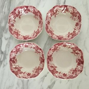 Set of 4 Strawberry Fair Soup/Cereal Bowls